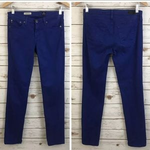 AG Adriano Goldschmied Blue Cigarette Jeans
